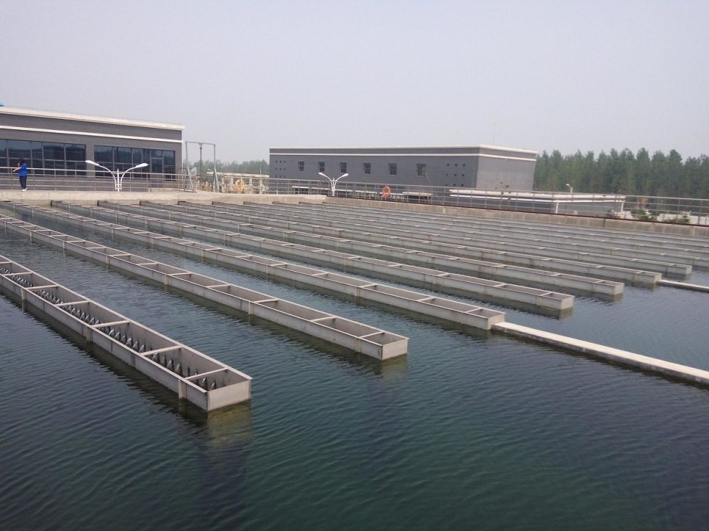 water treatment, advection sedimentation tank, water plant